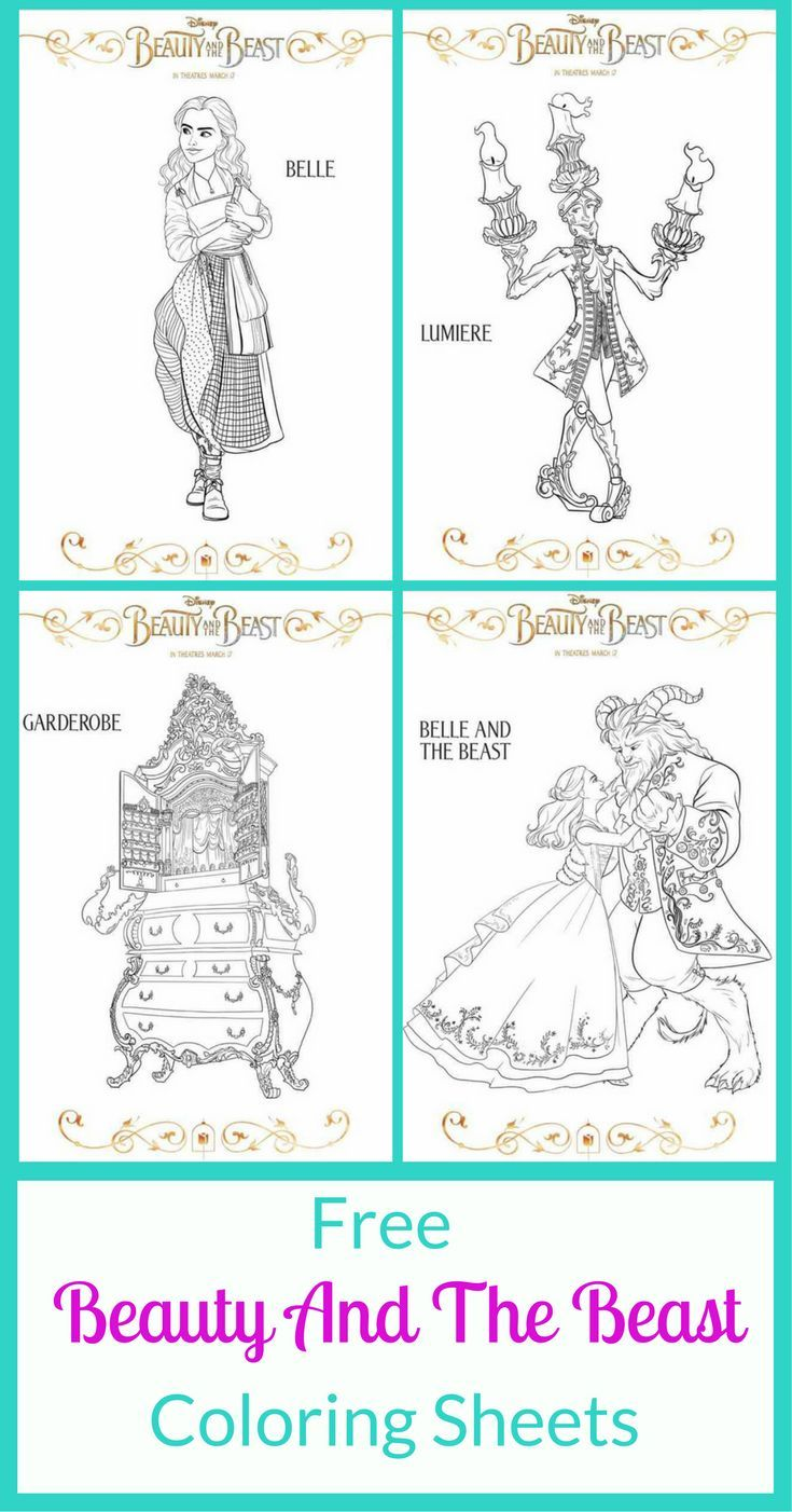 The 2017 Beauty And The Beast Movie Was Amazing It Is Always Cool To See An Old Classic Free Beauty Products Beauty And The Beast Movie Disney Coloring Pages