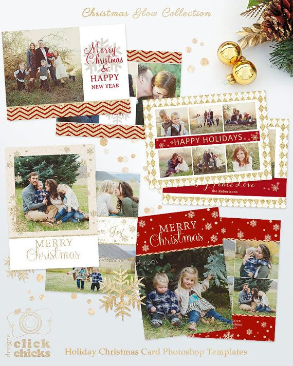 Save 45 Bundle Christmas Card Templates For Photographers 5x7
