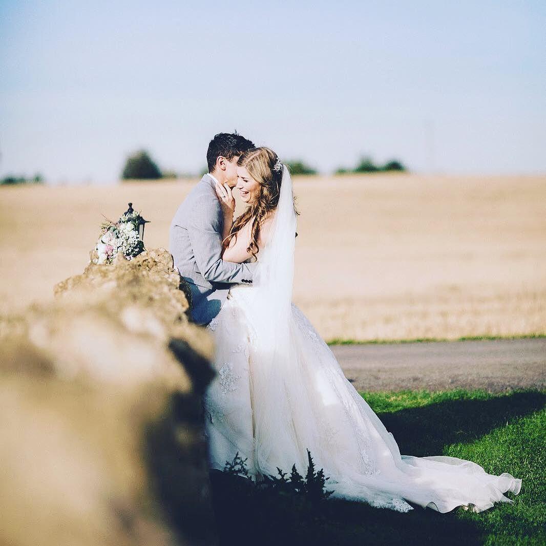 Moments #weddingphotographer #wedding #kingscotebarn #love #weddingdress #flowers #coupleshot by eve_dunlop_photography