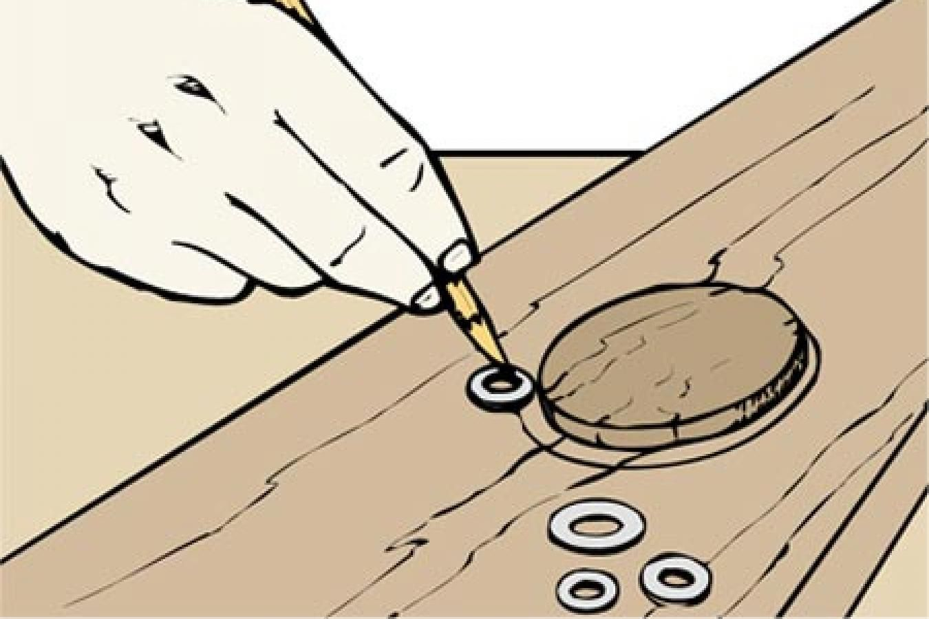 For different router guide bushings, Use a flat metal