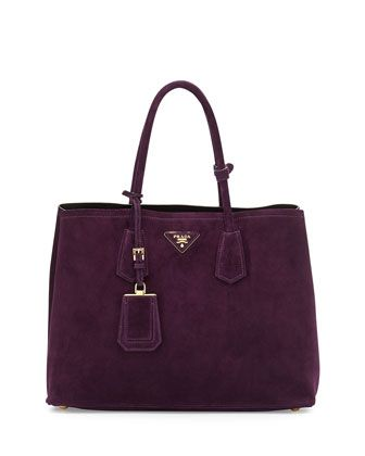 074a79930a8e Prada Suede Double Bag