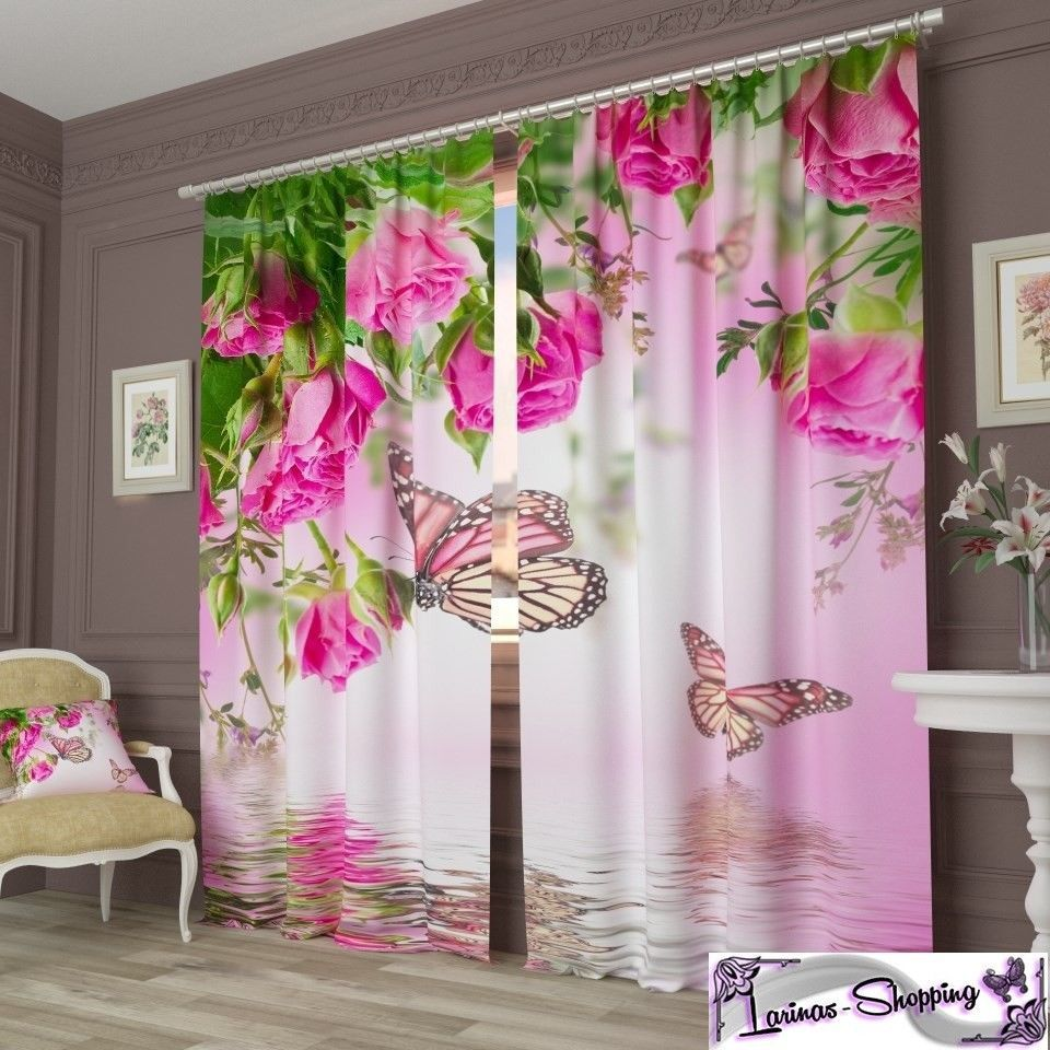 Vorhang Fotodruck details zu fotogardine gardinen schmetterling fotovorhang vorhang