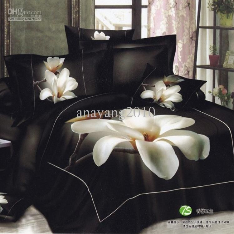 Wholesale set bed buy black and white flower bed sheets 3d 100 wholesale set bed buy black and white flower bed sheets 3d 100 cotton queen mightylinksfo Choice Image