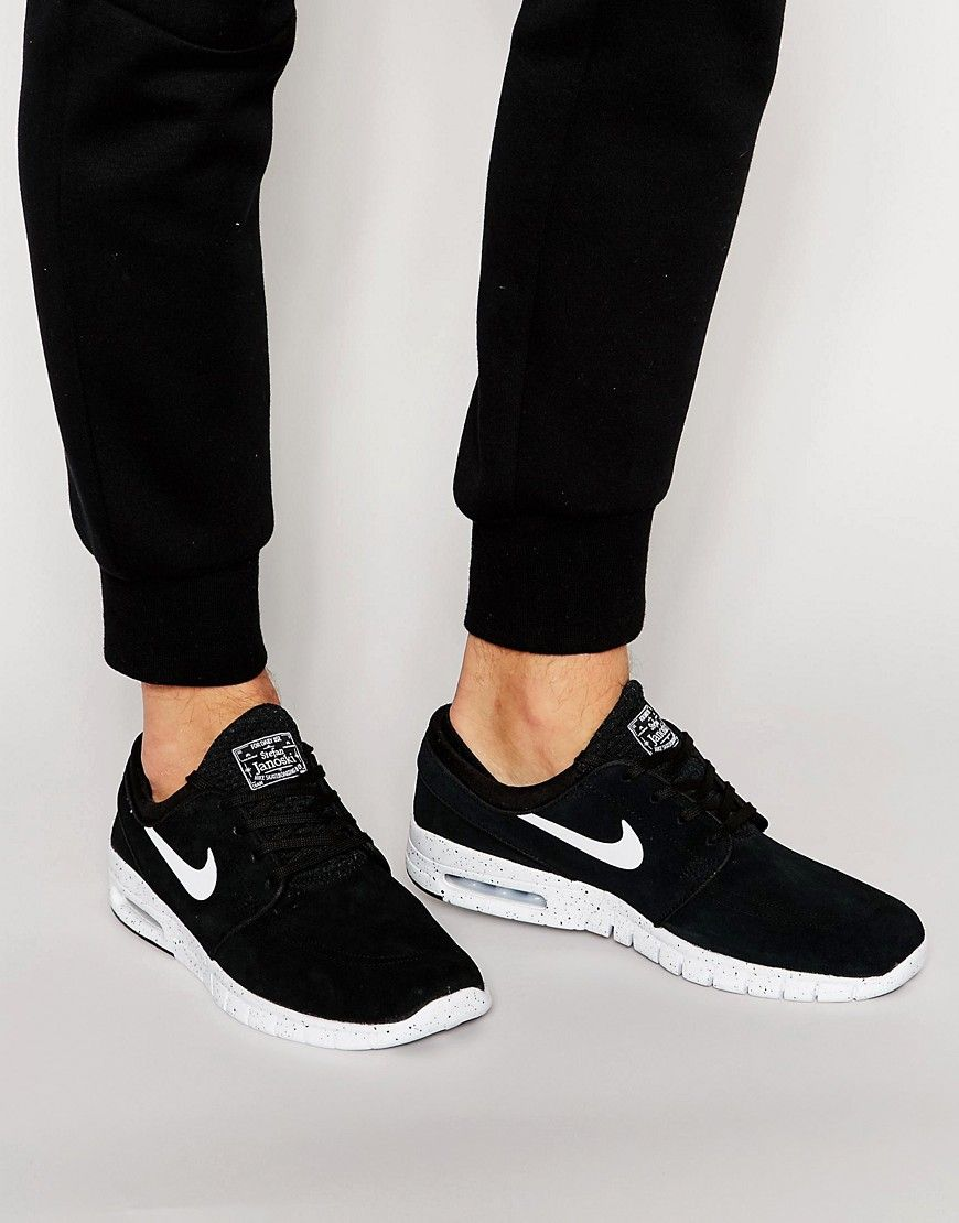 1d4533d867abcf Get this Nike Sb s sneakers now! Click for more details. Worldwide  shipping. Nike SB Janoski Max Trainers In Black 685299-002 - Black   Trainers by Nike ...