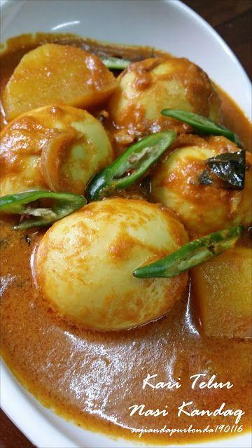 Kari Telur Ala Ala Nasi Kandaq Resep Masakan Malaysia Resep Makanan Makanan