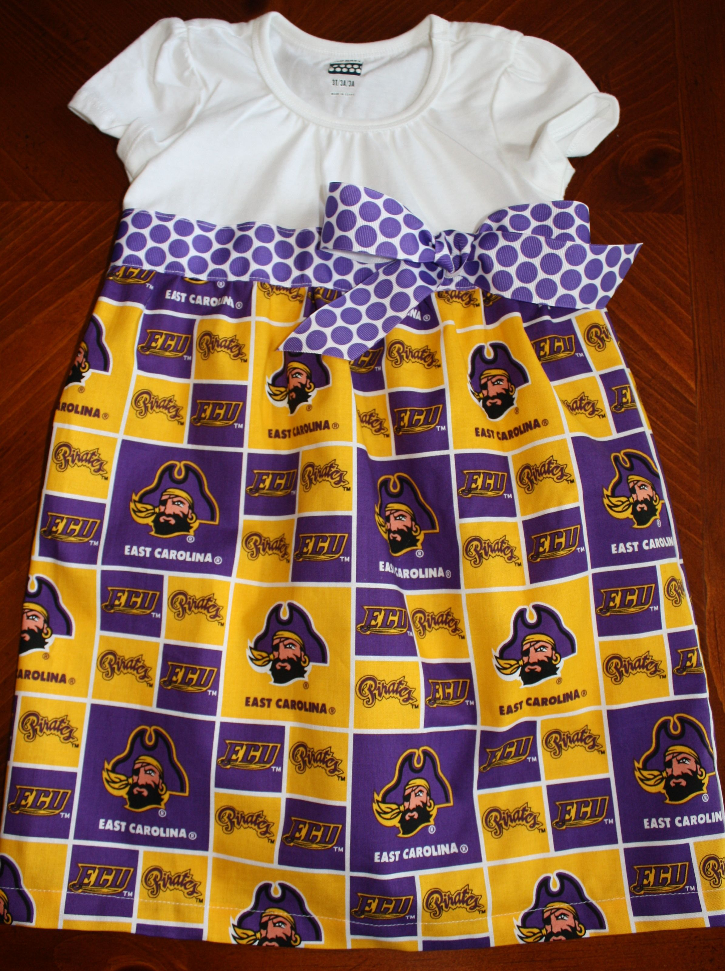 ECU fans...here is the perfect dress for your little pirate!