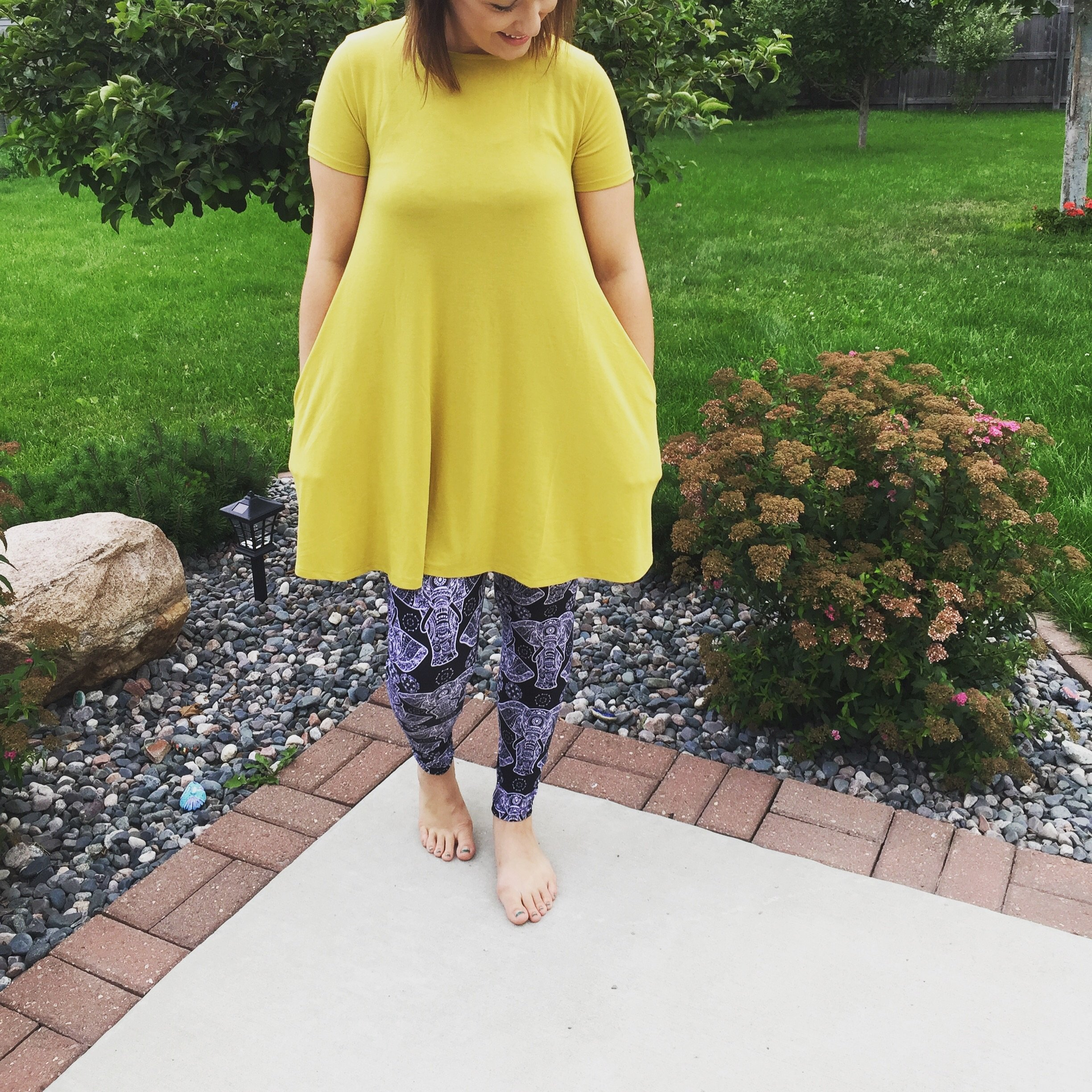 b911b5a8617 Women's Swing Tunic Dress | Mustard Yellow | Cute With Leggings – MomMe and  More