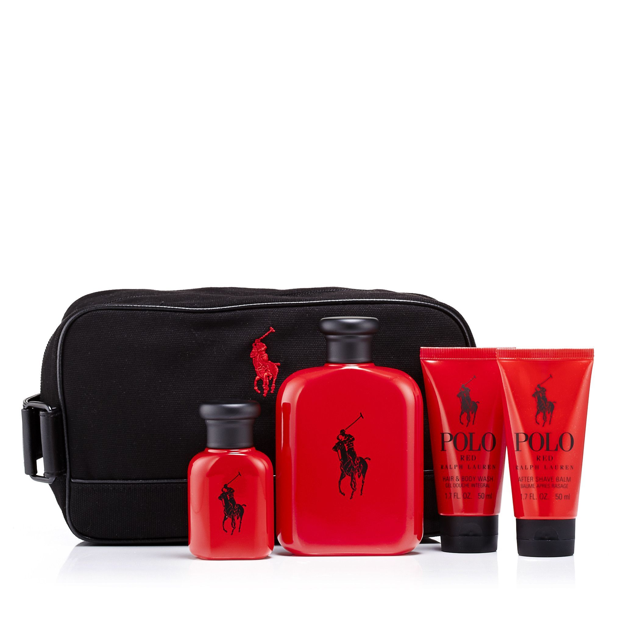 Polo Red Gift Set and Dopp Kit Bag for Men by Ralph Lauren  3f10de0ab6d76