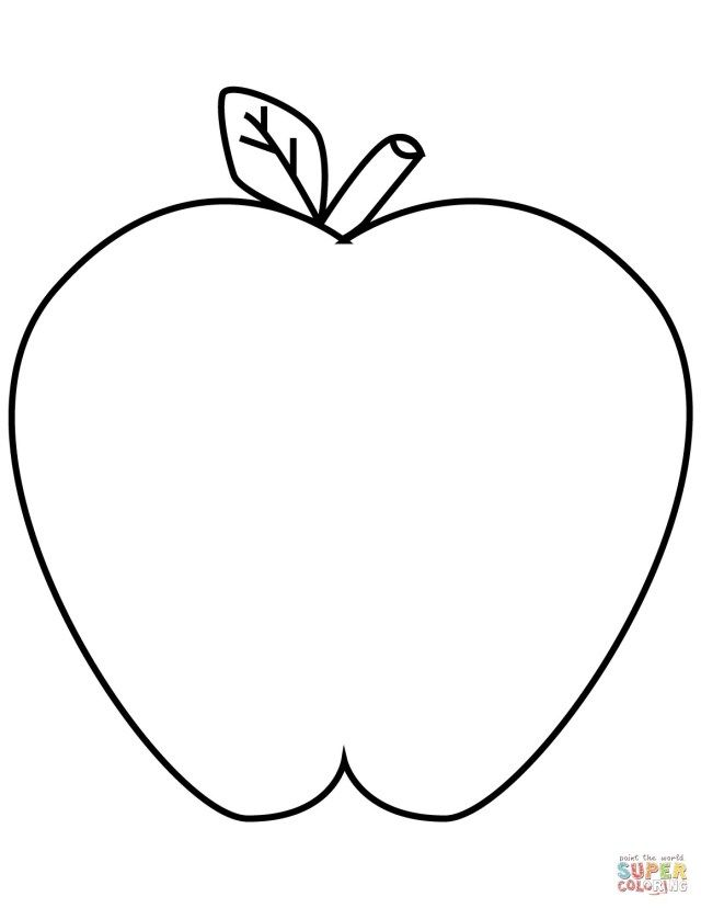 30 Best Picture Of Apple Coloring Pages With Images Apple