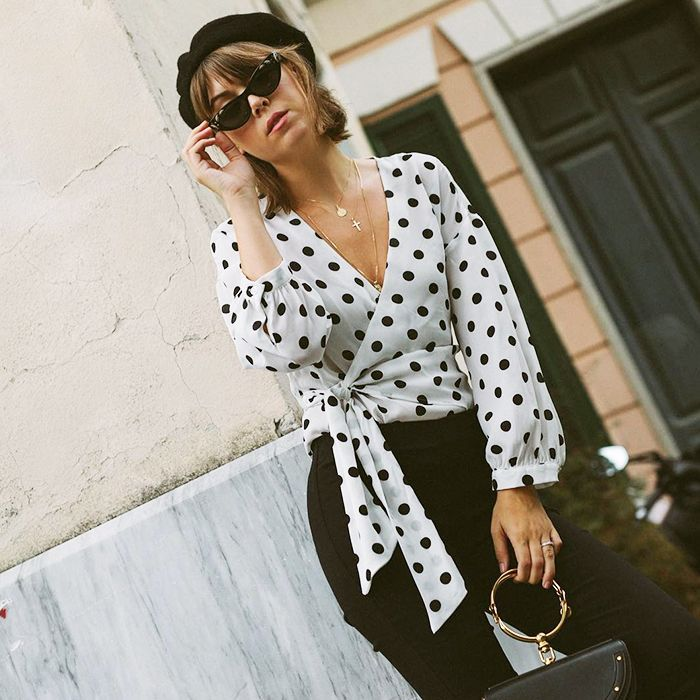 ded268a37afed Shop the best affordable tops for fall including wrap blouses
