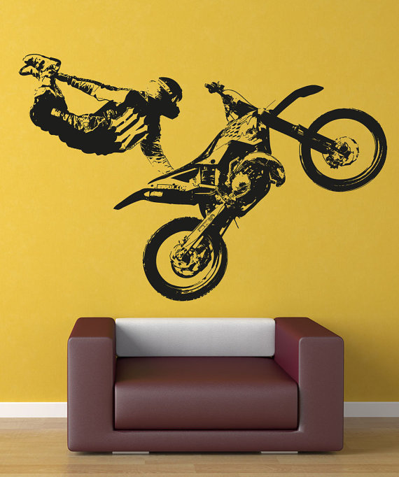 Vinilos Decorativos Motocross.Vinyl Wall Decal Sticker Motocross Trick Osaa195b En 2019