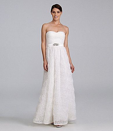 05a313e3b6c Adrianna Papell Strapless Rosette-Skirt Gown