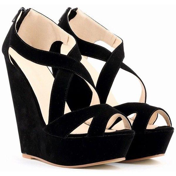 La Mode Femme Sexy Sandales compensées bout ouvert talon haut plus de... (
