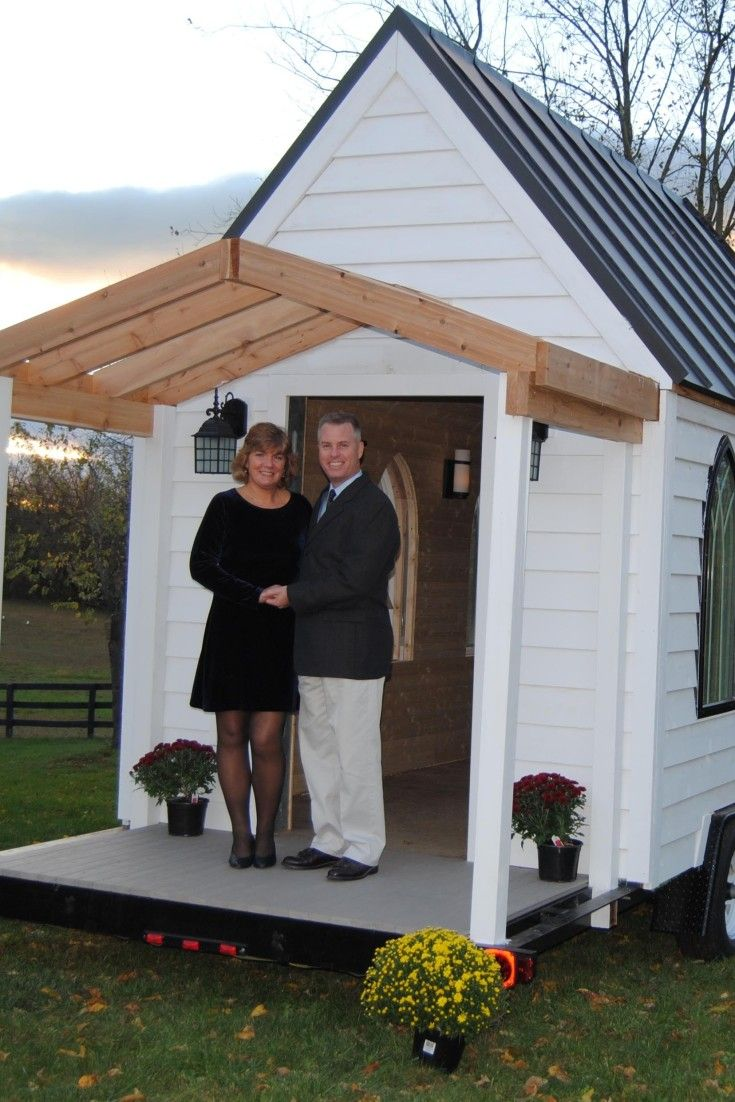 The Tiny Wedding Chapel On Wheels Holds Up To 25 Standing