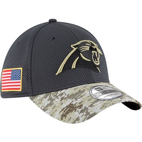 02dc61d041963d 2016 New Era NFL Carolina Panthers Salute To Service Camo Hat 39Thirty  #NewEra #CarolinaPanthers