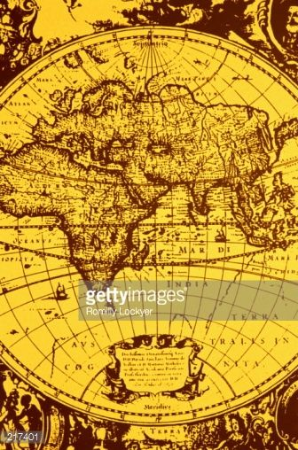 Stock Photo  OLD WORLD MAP OF EASTERN HEMISPHERE Oude kaarten - copy world map africa continent