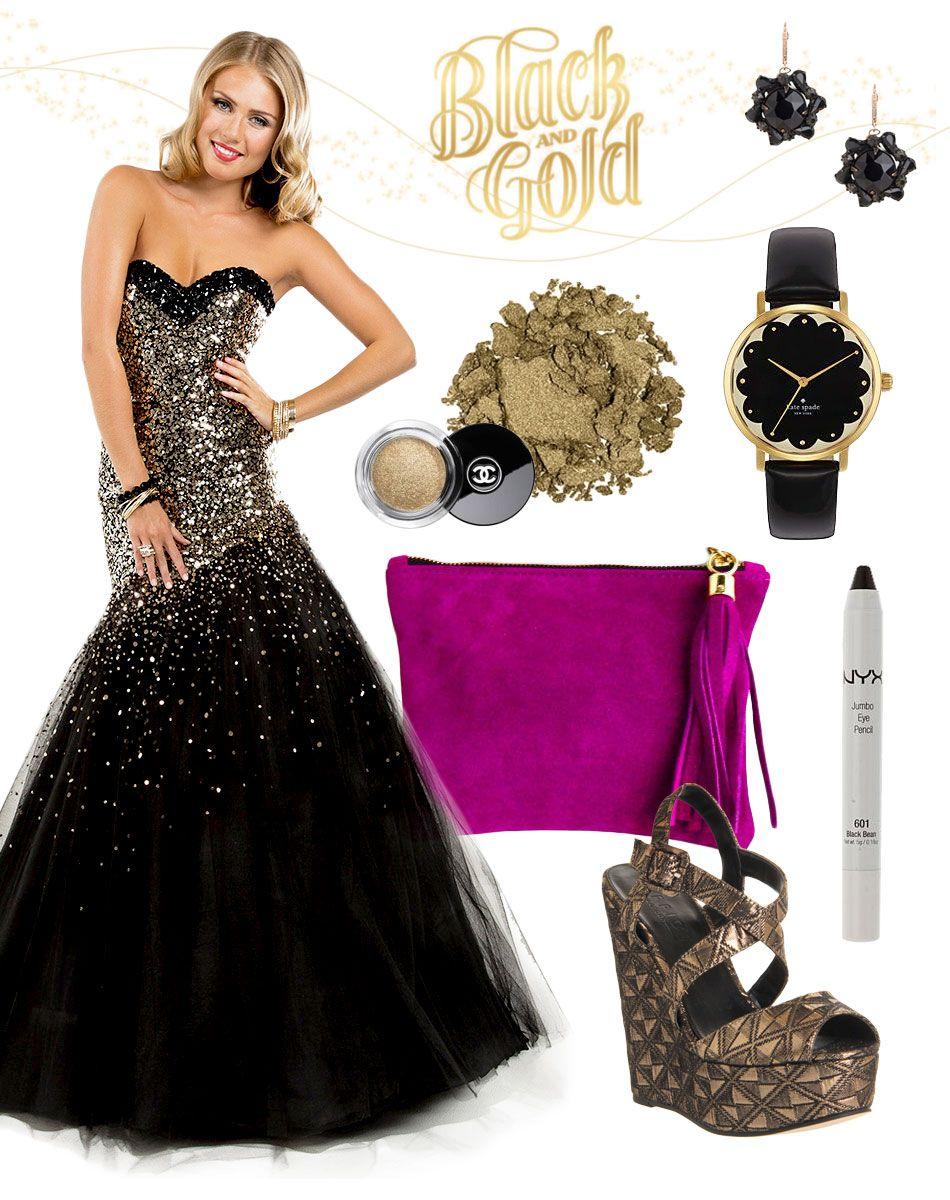 Glitter like gold in prom dress P7825… #style #fashion ...