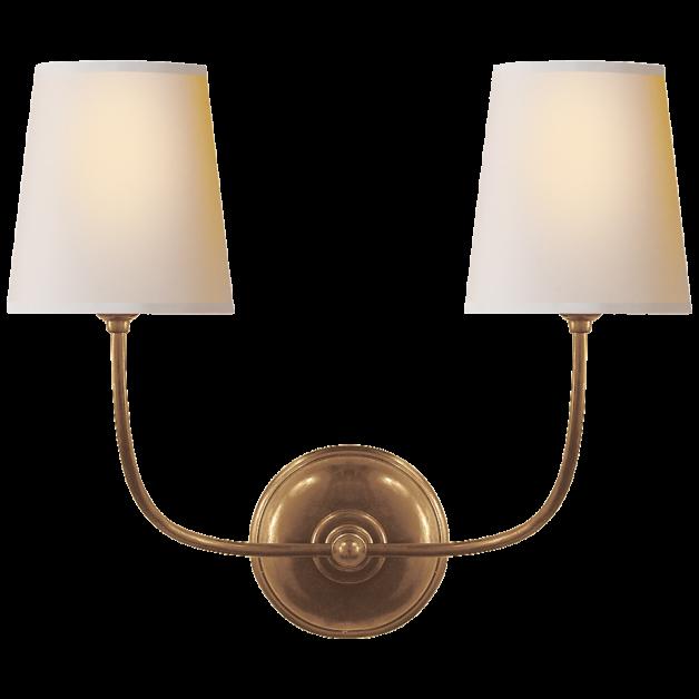 Vendome Double Sconce Sconces Brass Decor Visual Comfort