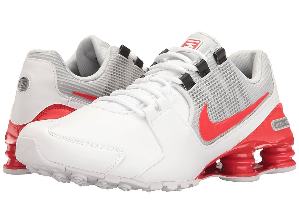 32baa1c480cee6 NIKE NIKE - SHOX AVENUE LEATHER (WHITE METALLIC SILVER PURE PLATINUM MAX  ORANGE) MEN S RUNNING SHOES.  nike  shoes