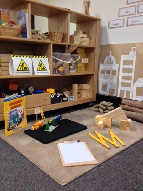 Construction play area via walker learning approach for Raumgestaltung lernwerkstatt