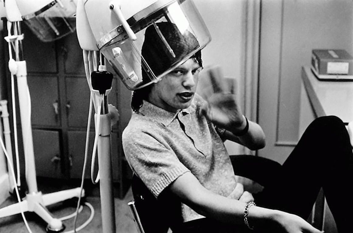 Terry O Neill Mick Jagger At The Hairdresser From A Unique Collection Of