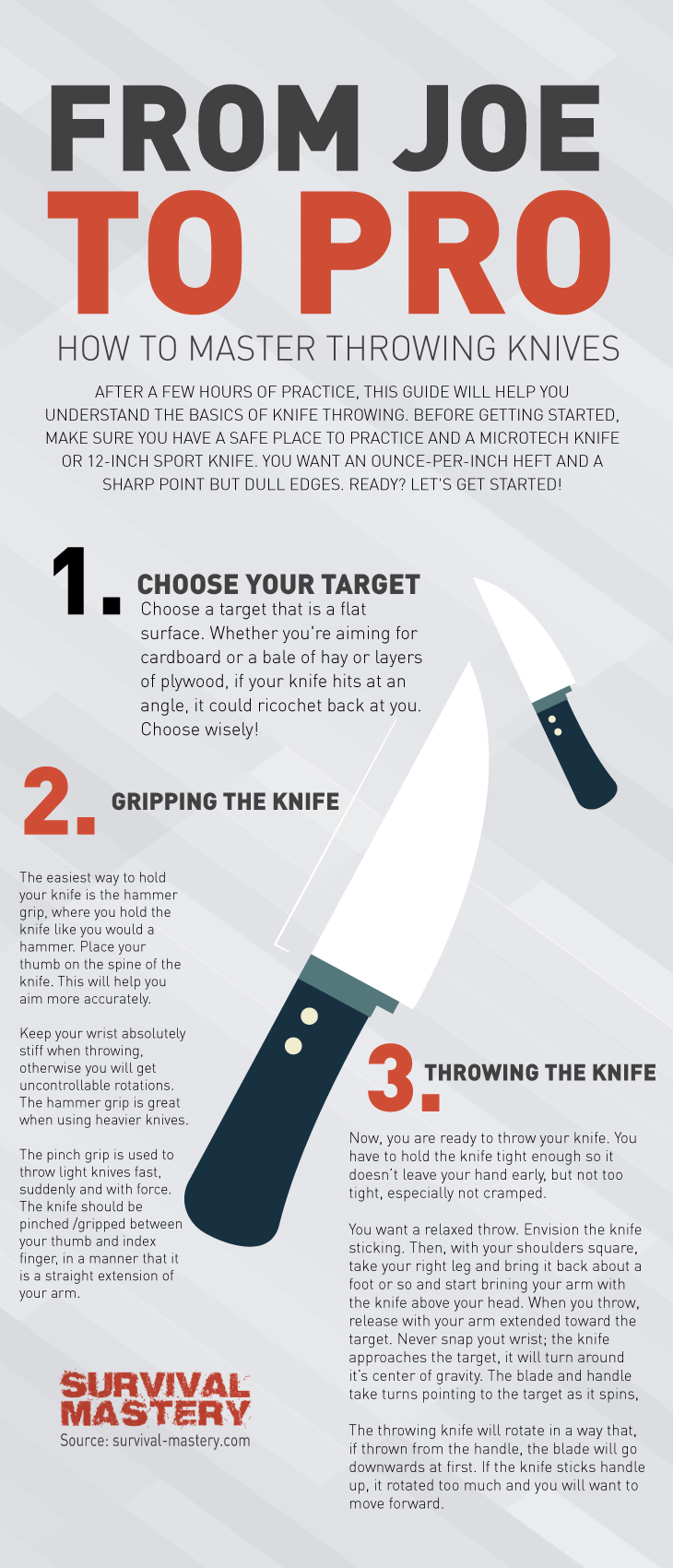 How to throw a knife