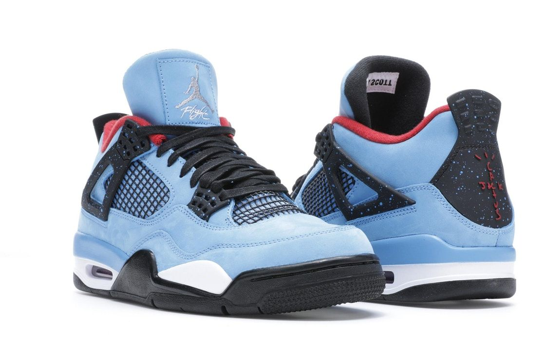 Jordan 4 Retro Travis Scott Cactus Jack Jordan Shoes For Kids