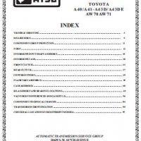 Toyota A40 A41-A43D A43DE AW70 AW71 Transmission Repair