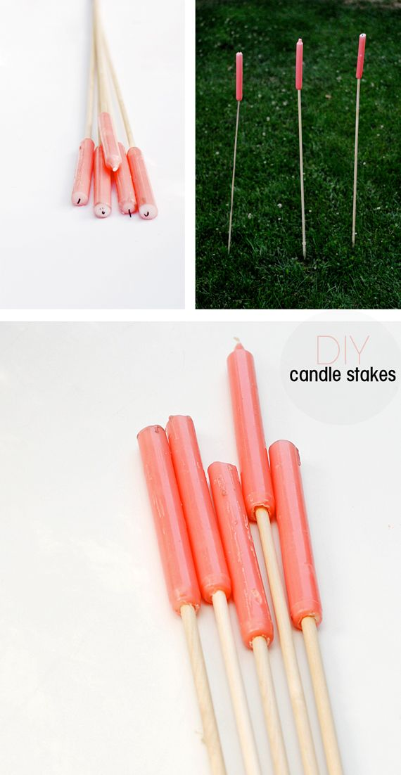 DIY Outdoor Candle Stakes. Genius!