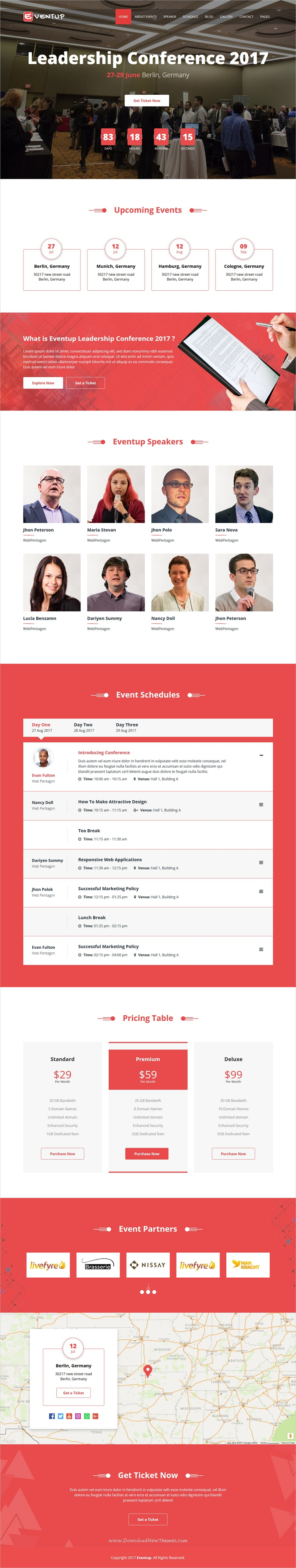 Eventup is a modern looking responsive #HTML #bootstrap template ...