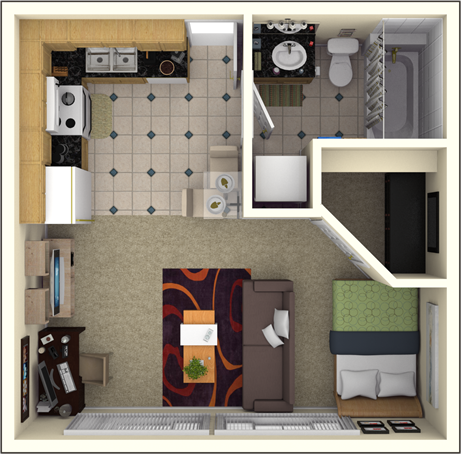 400 Sqft Studio Apartment Studio Apartment Floor Plans
