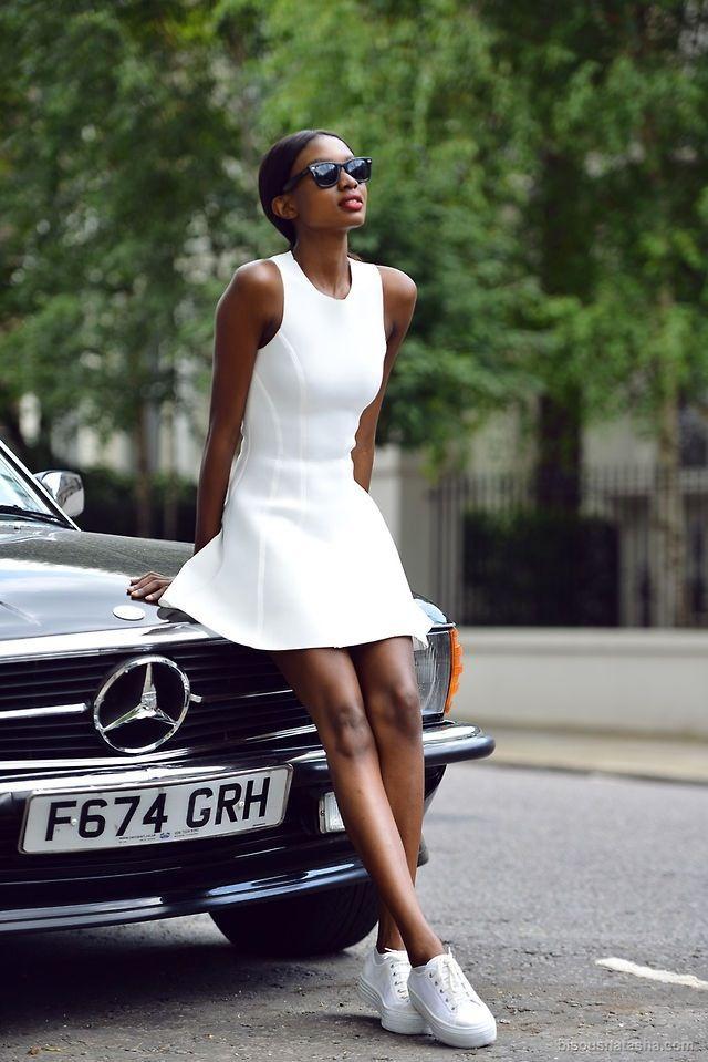 Pin von BONNIE&BLANCHE auf Street Fashion   Weiße turnschuhe