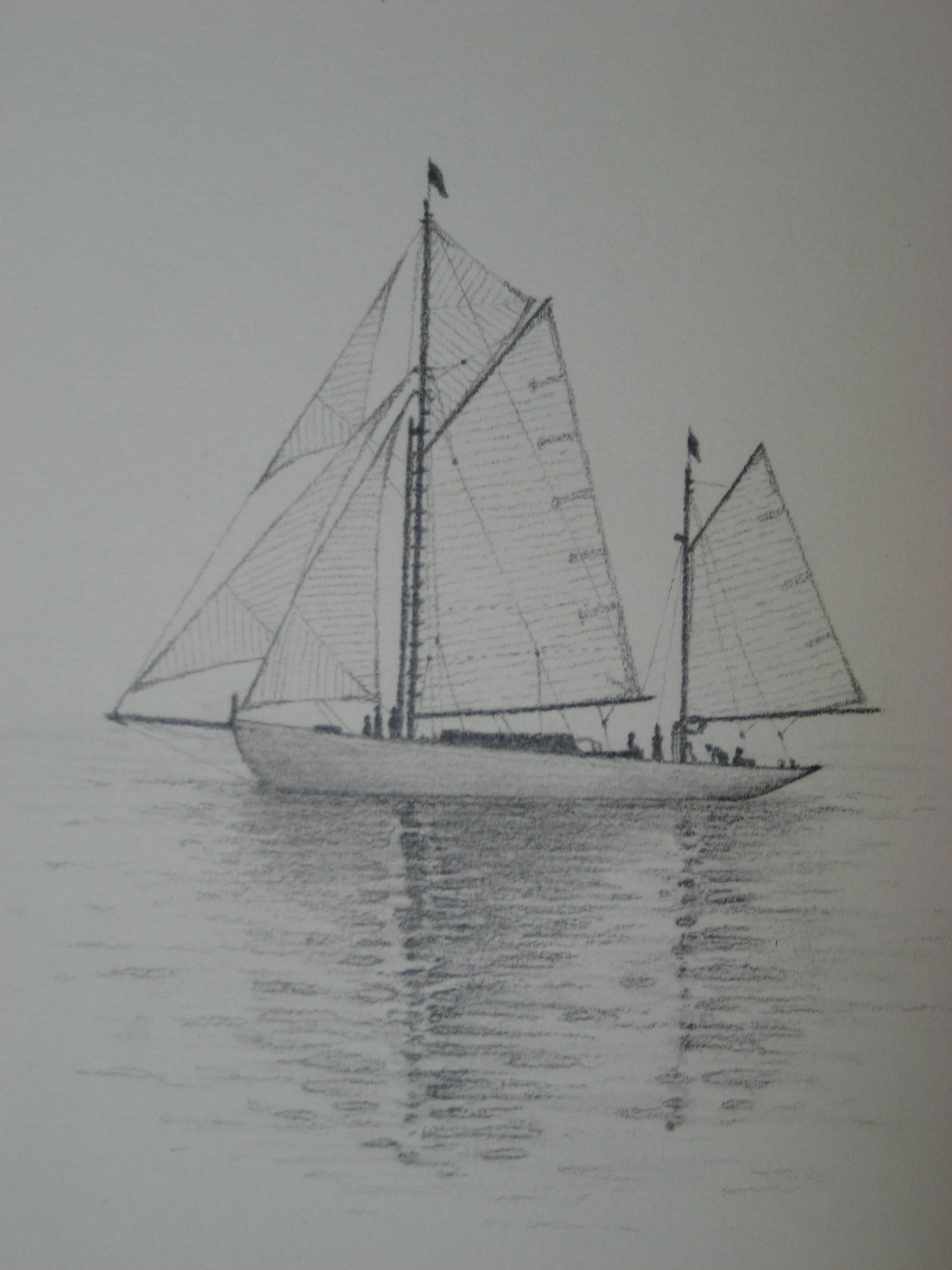 "Sketch by Kayleigh Foley - ""Sailboat"" - 2011 - Pencil in ..."