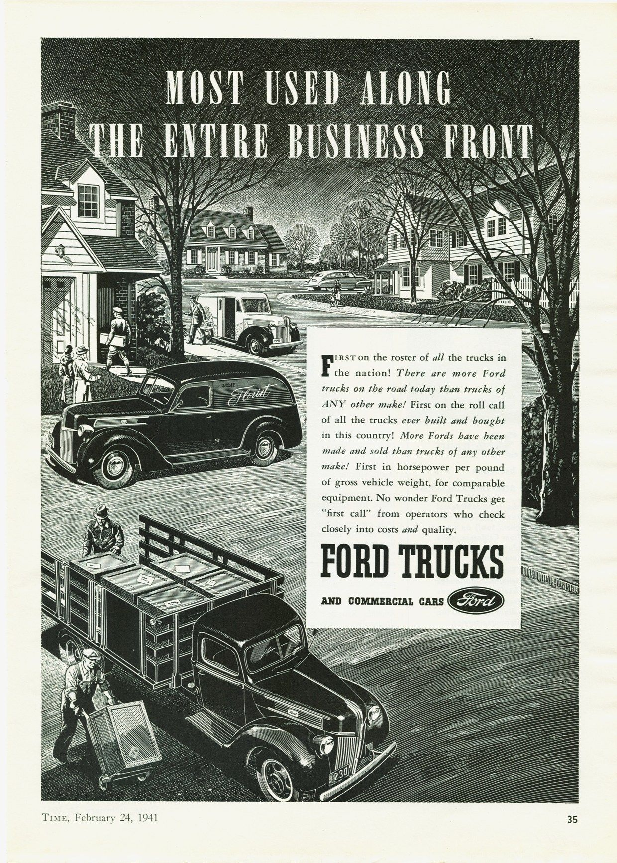 1941 Ford Truck Ad-02 | My Driveway | Pinterest | Ford trucks and Ford