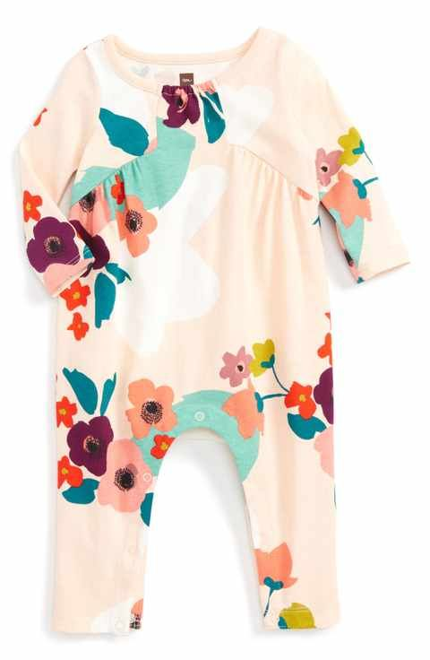 b4e2958ffe6 Tea Collection Claire Print Romper (Baby Girls)