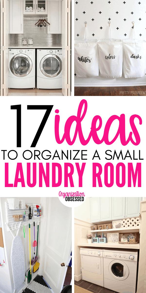 17 Small Laundry Room Organization Ideas - Organization Obsessed