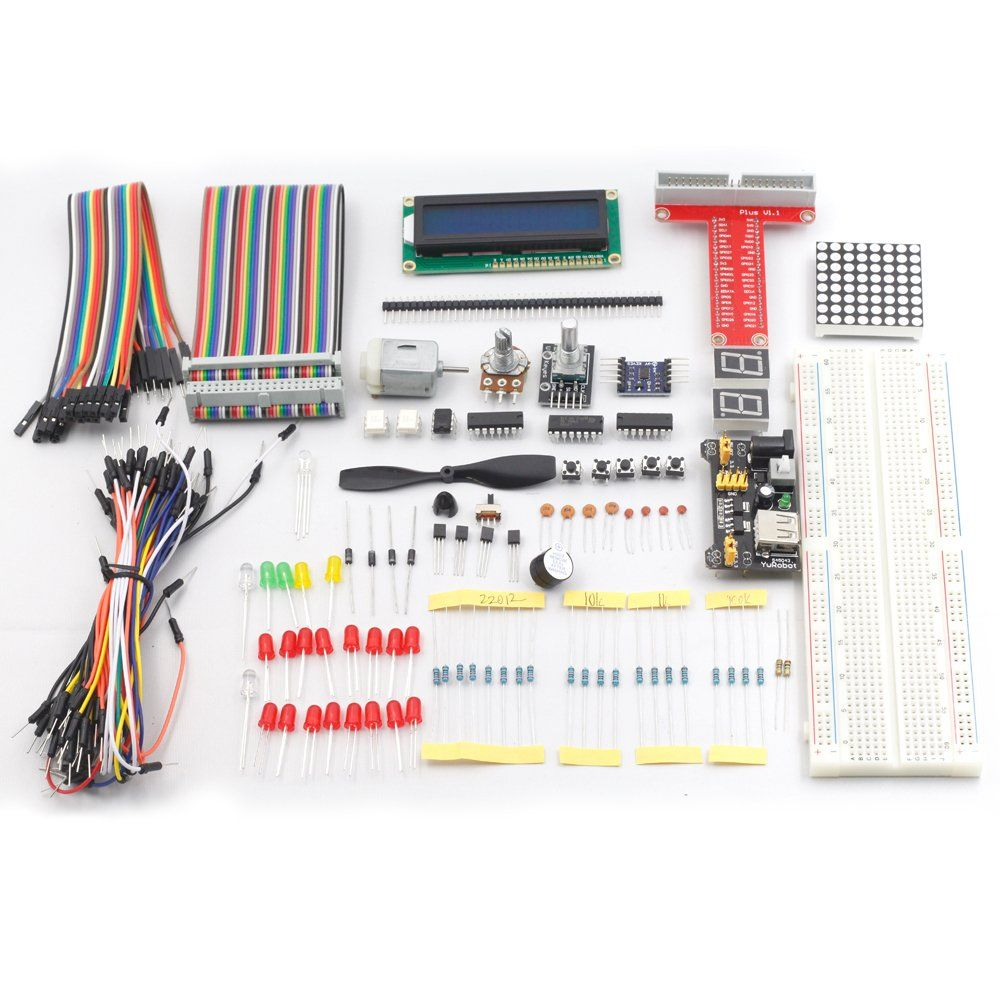 Sunfounder Project Super Starter Kit For Raspberry Pi Model B W 40 Electronic Microcontroller Projects H Bridge Circuit Pin Gpio Extension Board Cable L293d Adxl335 Dc Motor 7 Segment
