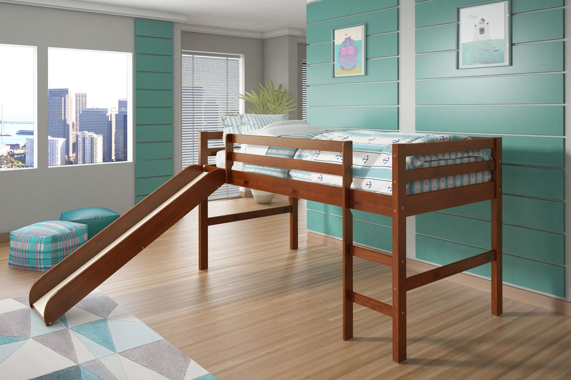 Kids low loft bed  Twin Low Loft Bed  Products  Pinterest  Low loft beds and Products
