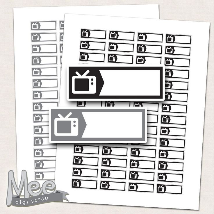 TV labels planner stickers printable,Black and grey tv labels,TV Stickers, Movie Night Stickers, Filofax,Plum Paper, Happy ,EC planner by MeeDigiScrap on Etsy