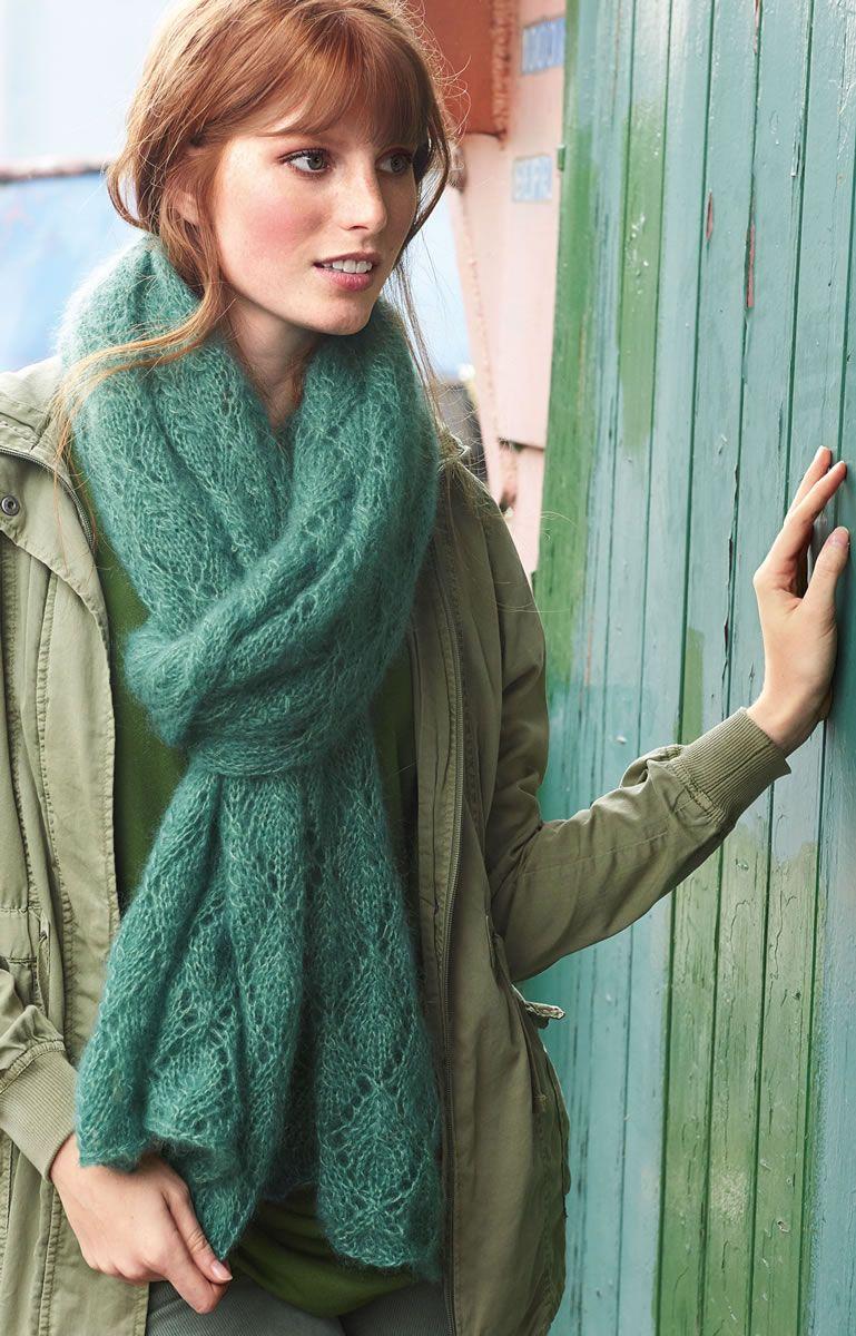 Photo of Lana Grossa ZARTE LOCHMUSTER-STOLA Silkhair – FILATI Accessoires No. 16 – Modell 2 | FILATI.cc Onlineshop