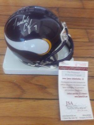 Randall Cunningham JSA Certified Autograph Vikings Mini