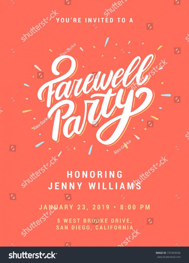Free Printable Farewell Cards For Boss Online Coworkers Good Intended For Farewell Ca Party Invite Template Farewell Invitation Card Farewell Party Invitations Going away flyer template free