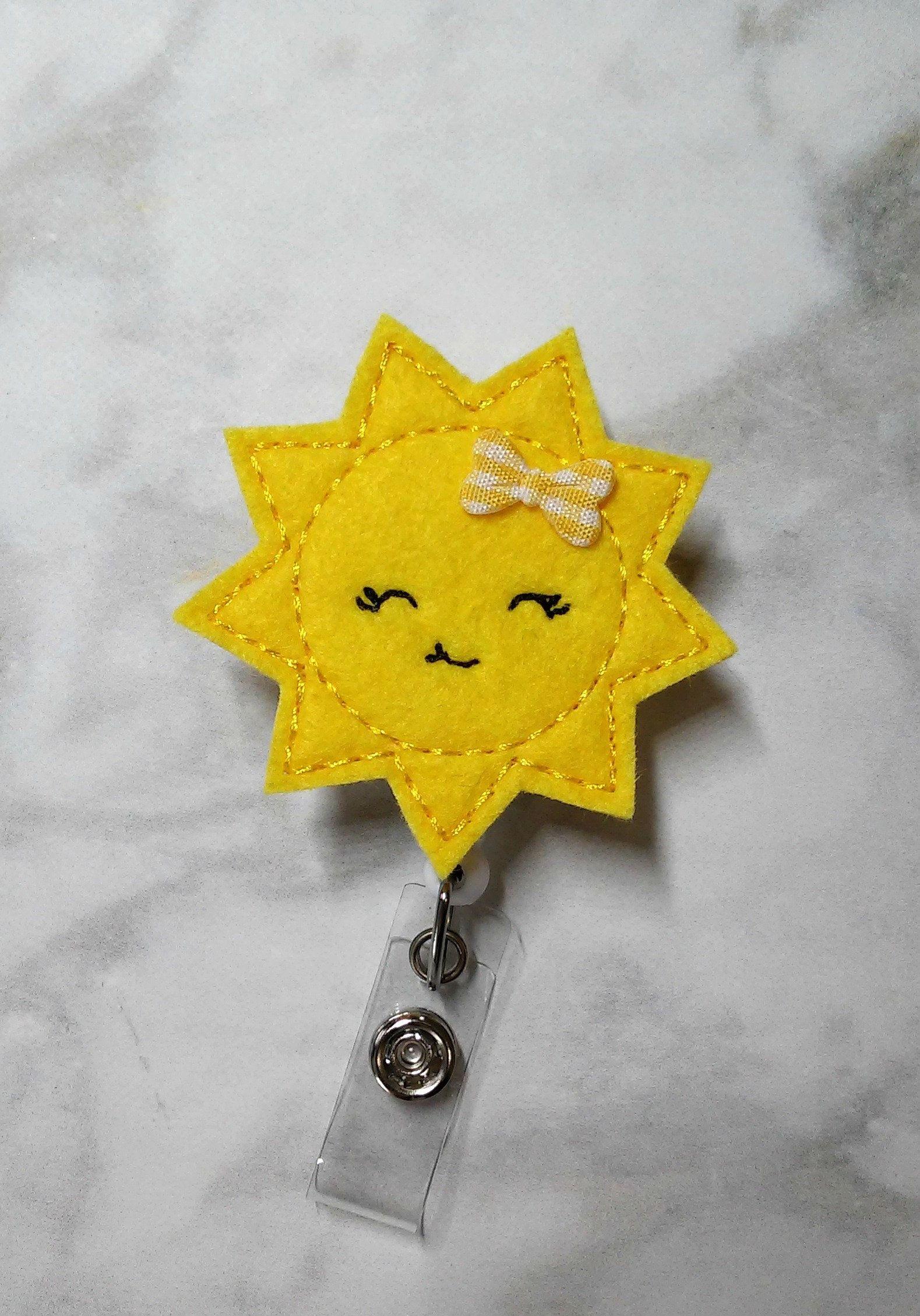 Sun Badge Reel/Nursing Badge Reel/RN Badge Reel/Retractable ID Badge