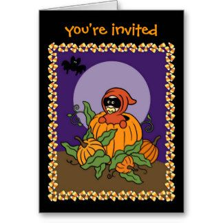 Halloween baby Shower Invitation Card