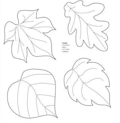 картинки листьев цветные деревьев для вырезания