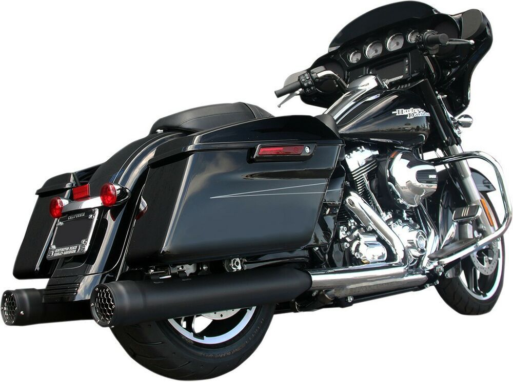 Details About Gp Black Dual Slip On Exhaust Firebrand 10 1026 For 17 19 H D Flh Flt Black Slip Ons Touring Muffler