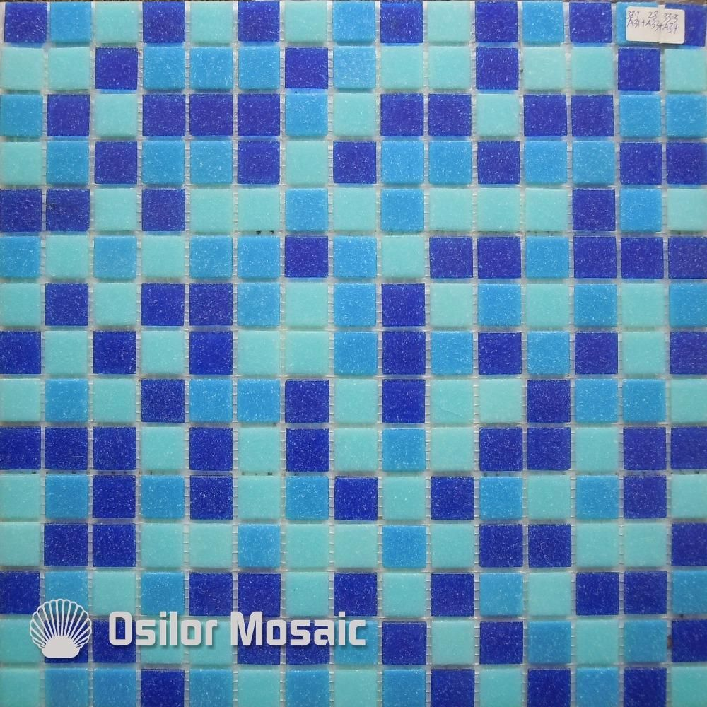 Blue glass mosaic tile swimming swimming pool mosaic tile wall tile ...