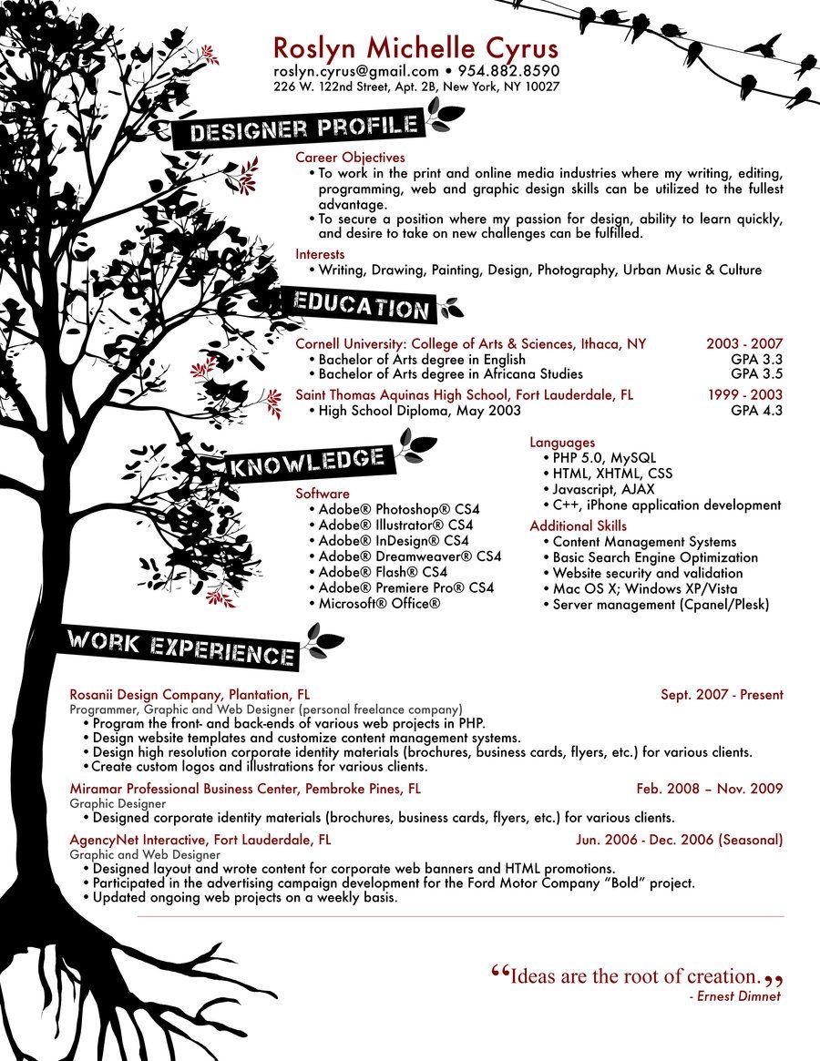 Resume Designs Best Creative Resume Design Infographics Creative Graphic Design Resumes Graphic Design Resume Resume Design Creative
