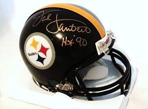 Share what you love about TSE!  Jack Lambert Signed Black Mini Helmet with HOF '90
