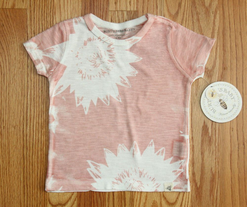 877a23825 Burt s Bees Baby Girl T-Shirt ~ Light Rose Color with White Flower ...